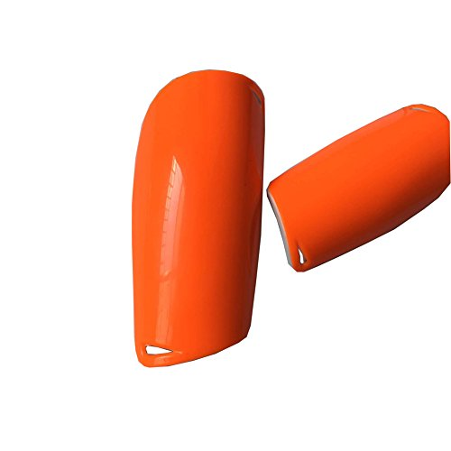TUYU Schienbeinschoner für Fußball-Ausrüstung, Kniebandagen und Beinschutz, bequem, für Anfänger oder Elite Athlet YDHB02, Orange, L:Adults Size