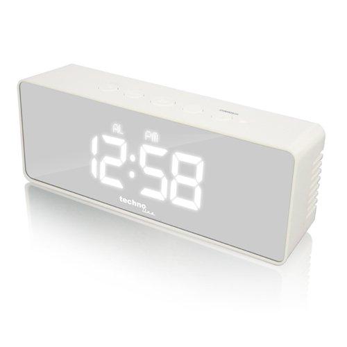 Technoline Wecker WT 475 mit Spiegel-Display, Innentemperaturanzeige und Uhrzeitanzeige
