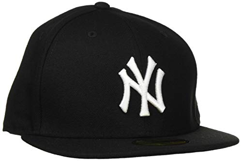 NEW ERA New York Yankees Cap in schwarz/weiß in 7 5/8