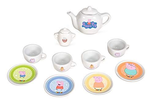 Smoby 310531 Peppa Pig Porzellan-Kaffee-Geschirrset, Kinder, bunt