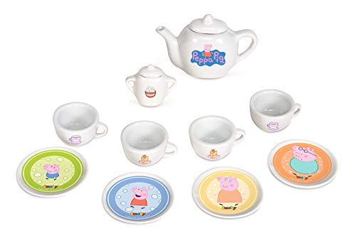 Smoby - 310531 - Peppa Pig - Jeu d'Imitation - Dinette Porcelaine - 10 Pièces