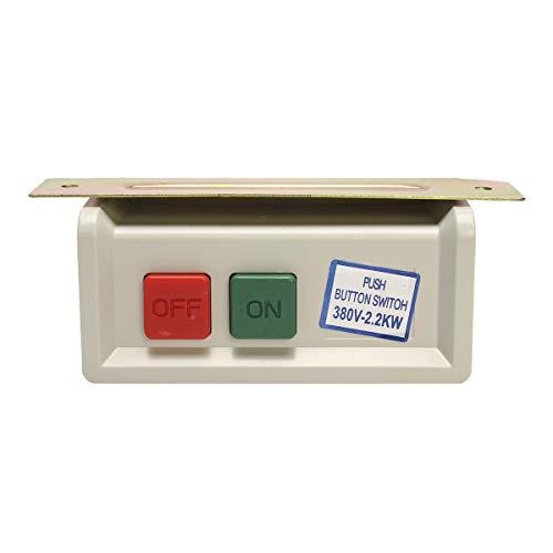 HELEISH Ein/Aus Power Push Button Switch Box für industrielle Nähmaschine 110Volt ohne Draht Zubehörwerkzeug Push-button Switch-box