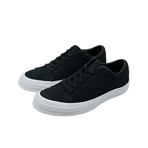 Converse One Star Suede (Converse ONE Star Suede OX Damen Sneakers Schnür-Schuhe Schwarz Leder NEU OVP, Größe:EUR 38.5 (UK 5))