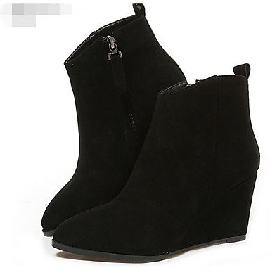 Stivali da donna Comfort Casual Suede Casual Black Flat Khaki Black