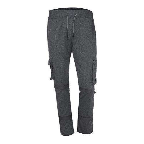 Sannysis Herren Hose Cargo Chino Jeans Sportbekleidung Baggy Slim Fit Hosen Slacks Sweatpant Rot/Armee-Grün/Schwarz/Weiß/Dunkelgrau - Schwarz Rot Denim