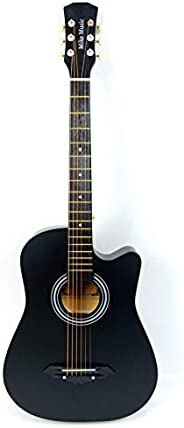 38 inch MIKE MUSIC Acoustic Guitar with Bag and Strap (black)
