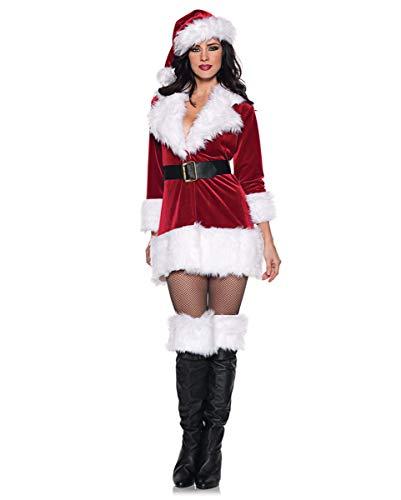 Sexy Claus Kostüm Miss - Horror-Shop Sexy Miss Santa Claus Kostüm für Weihnachten & Fasching XXL