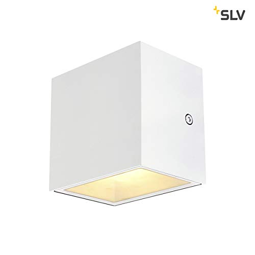 SLV Wandlampe SITRA CUBE für die effektvolle Außenbeleuchtung von Hauseingang, Wänden, Wegen, Terrassen, Fassaden, Treppen | LED Wandleuchte, Aussenleuchte, Gartenlampe | LED Inside, 10W, A-A++