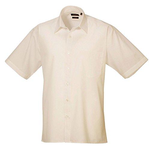 Premier Kurzarm Popeline-Hemd Natürliche 17 (Natürliche 17)