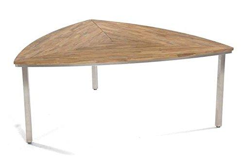 SonnenPartner Tisch 'New Orleans-Triangel' 170 cm Abmessungen: 170 x 170 x 75 cm Tischhöhe: 75 cm Material Gestell: Edelstahl Material Tischplatte: Old-Teak-Look Gewicht: 37 Kg