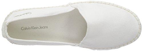 Calvin Klein Jeans Genna Canvas, Espadrilles femme Blanc - Blanc (wht)