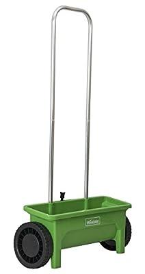 Woodside Streuwagen für Rasen/Saatgut/Streusalz/Dünger - 12 l Fassungsvermögen