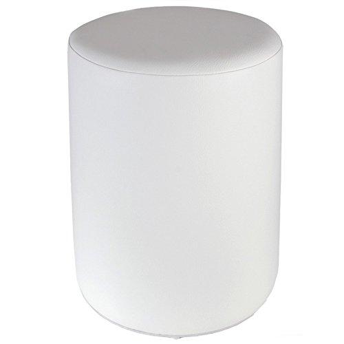 Sitzhocker weiß Ø34 x 44cm