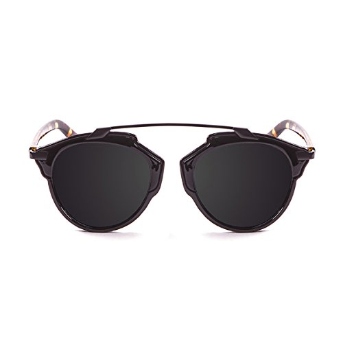 Paloalto Sunglasses Santorini Sonnenbrille Unisex Erwachsene, Shiny Black/Demy Brown