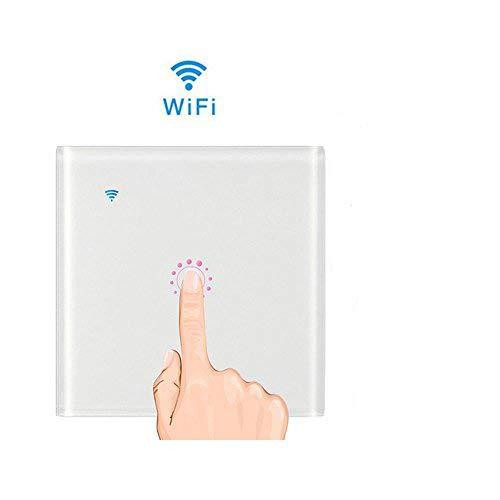 Teepao interruttore wifi con led touch screen casa intelligente interruttore smart supporto controllo remoto tramite ios android app google home e welink interruttore luce da parete (bianco1)