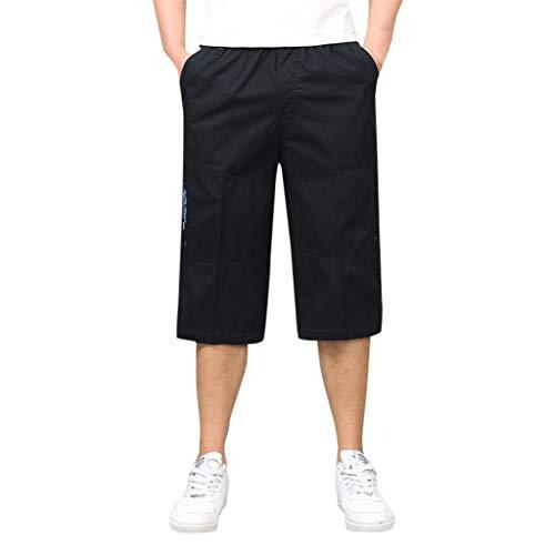 YiYLunneo Herren Shorts Kurze Hose Mode Herren Sieben-Punkt-Hose Multi-Pocket mit Reißverschluss Eingebaute Elastisches Seile Werkzeug Hosen Shorts Bermudas -