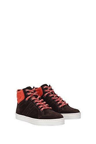 HXC14107282MU00AZL Hogan Sneakers Bambino Camoscio Marrone Marrone