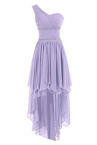 Fanciest Damen Crystal Abendkleider Ballkleid 2016 Kurz Brautjungfernkleid Lavender