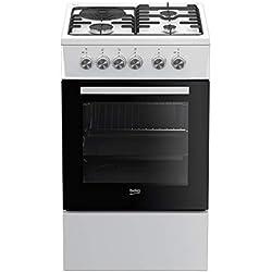 Beko FSS53000DW four et cuisinière Blanc Combi A - Fours et cuisinières (Cuisinière, Blanc, Rotatif, Combi, Arrière gauche, Electrique)