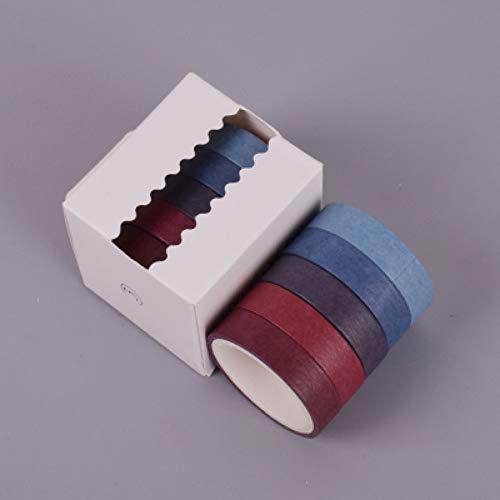 hachtel 1 cm * 3 Mt Multicolor Einfache Einfarbig Washi Klebeband Dekoration Für Scrapbooking Masking Tape Klebeband ()