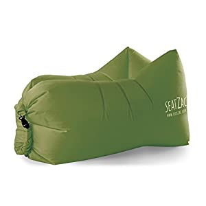 SeatZac 64700A – Luftsofa Chill Bag, dunkelgrün