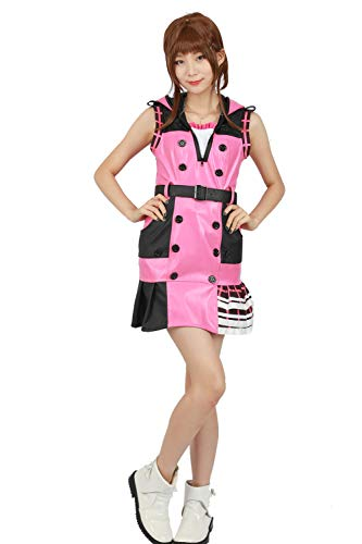 Kingdom Hearts Kostüm Kind - DealTrade Kingdom Hearts Kairi Rosa Kostüm Ärmelloses Kleid mit Gürtel Cosplay Spiel Große Mädchen Frauen Anzug Halloween Verkleiden Einteiler Rock Kleidung
