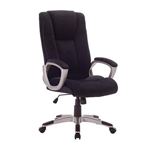 Büros Outlet Damask Computer-Schreibtisch Drehstuhl - höhenverstellbar - High Back - Kopfstütze - Kippfunktion - Schwarz - Verkauf Workstation
