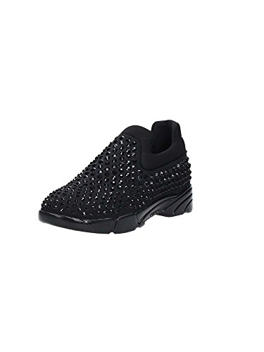 Pinko NEW GEM Sneakers Donna 100% Pelle Nero Nero 36