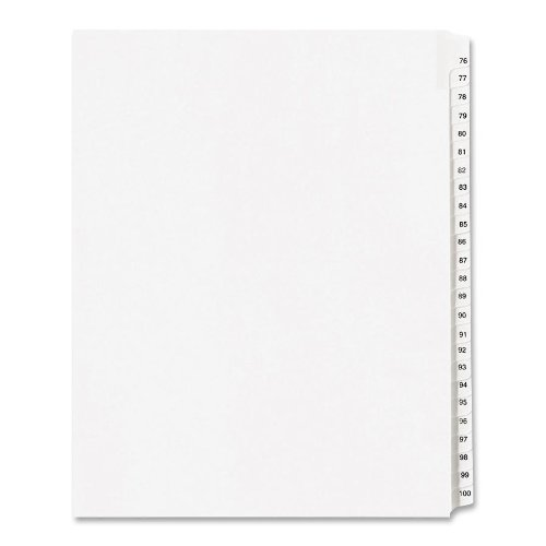 allstate-style-legal-side-tab-dividers-25-tab-76-100-letter-white-25-set