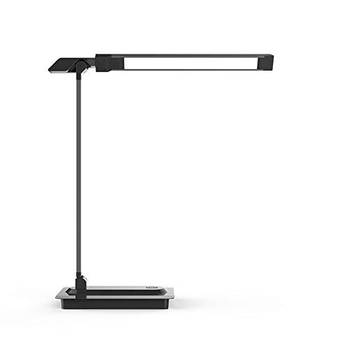RZJF Neue Geführte Schreibtischlampe, Student Learning Folding Eye Lamp, Verdunkelnde Farbschreibtisch-Schlafzimmer-Nachtleselampe