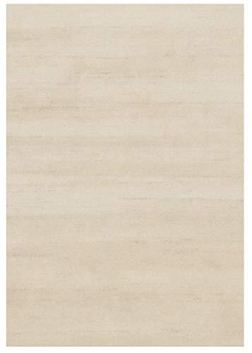 SONORA TAURI handgeknüpfter Nepal Teppich Wolle in beige, Größe: 90x160 cm -