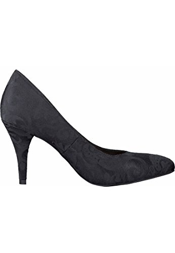 Tamaris Pumps High-Heels Black Struktur schwarz Pfennig-Absatz 1-22443-23 006 Black Struktur Schwarz