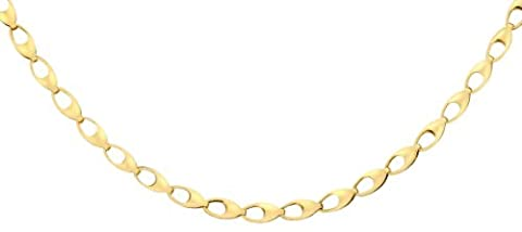 Carissima Gold 9ct Yellow Gold Oval Link Chain of 46cm/18