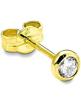 amor Damen-Ohrstecker Einzelohrschmuck 333 Gelbgold glänzend Zirkonia weiß  - 31233