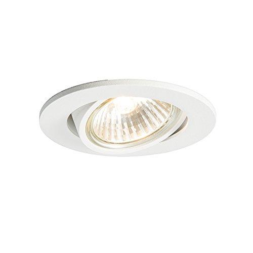 QAZQA Moderno Foco empotrado CISCO blanco Aluminio Redonda Adecuado para LED Max....