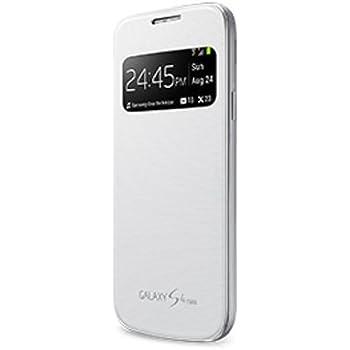 meet 7c4be e3deb S-View Flip Cover for Samsung Galaxy S4 Mini (White)