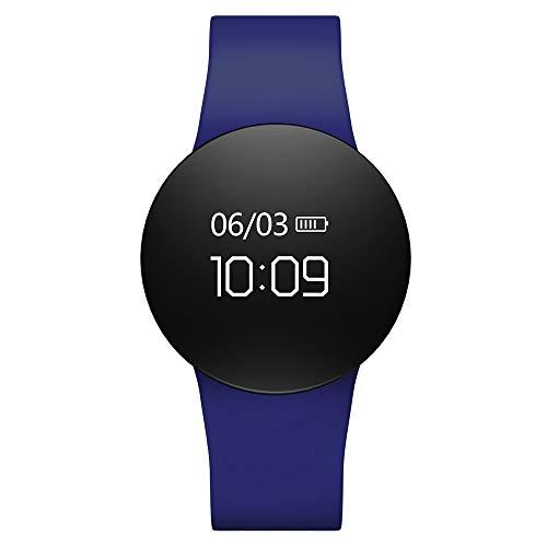 GLDMT Smartwatch Business Sport Armband Multifunktionaler Herzfrequenz-Blutdruck Armband Zur Gesundheitsüberwachung Im Schlaf, Unisex,Blue