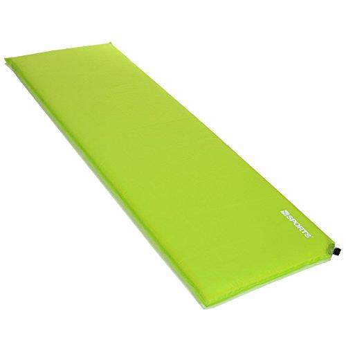 LCP Sports Selbstaufblasende Luftmatratze Isomatte 200x66 cm und 3 cm Dick/Stark; Grün