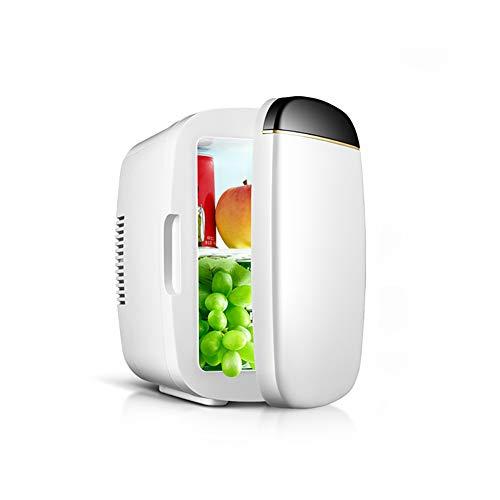YFASD Mini Kühlschrank Car Tragbarer Elektrische Compact Cooler 6l Auto Zu Hause Dual Kühlung Und Heizung Energiespar Kühlschrank,White