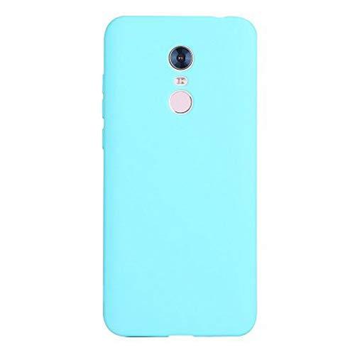Caler Case Xiaomi Redmi 5 Plus Funda con Absorción de Choque Flexible y Duradera con Carbono Fibra Diseño para Xiaomi Redmi 5 Plus Silicona Fundas Caso Carcasas Protectora (Cyan)
