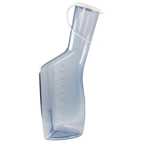 carmesin.com GmbH Urinflasche für Männer, Beschreibung:Glasklar mit weißem Deckel
