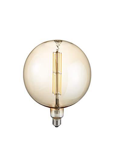Trio Leuchten LED Glas Filament Leuchtmittel, Glas braun getönt, E27 Fassung, 8 Watt, 2700 Kelvin, 560 Lumen, 907-879