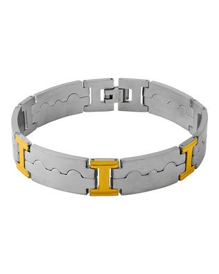 Voylla Designer Stainless Steel Bracelet In Silver Plating For Men From Dare by Voylla  available at amazon for Rs.638