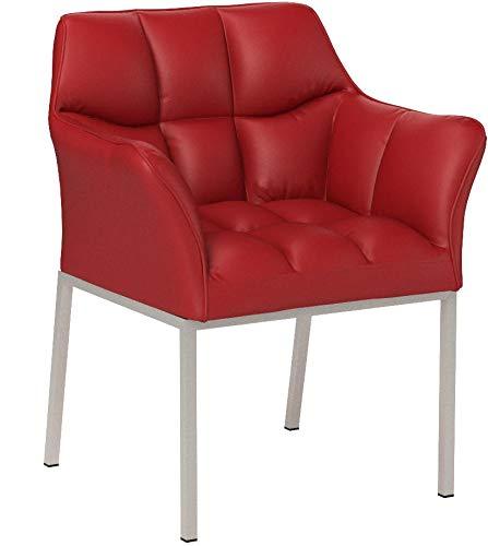 CLP Lounge-Sessel OCTAVIA mit Armlehne - Kunstleder-Bezug - 4 Beine