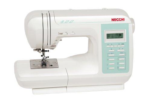 Necchi N422 - Máquina de coser (LCD, Eléctrico, Color blanco)