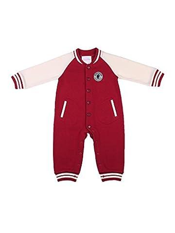 Oceankids Baby Jungen Rot Babyoverall Säugling Kleidung Baseball Babystrampler 12-18 Monate