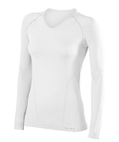 FALKE Damen Langarmshirt Warm Comfort Fit, Sport Performance Material, 1 Stück, Weiß (White 2860), Größe: XS