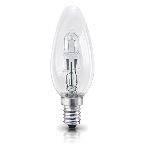 OSRAM Halogen Lampe E14 dimmbar Classic B /  30W – 40 Watt-Ersatz, Halogen Birne als Kerzenform / klar, warmweiß – 2700K, 5er-Pack