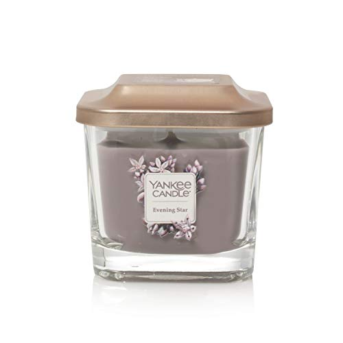 Yankee Candle Elevation Kollektion mit Plattformdeckel Kleine 1-Docht-Quadratkerze, Evening Star -
