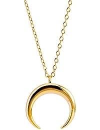 Singularu - Collar Moonset Oro - Plata de Ley 925 - Mujer